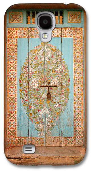 Rabat Photographs Galaxy S4 Cases - Colourful Moroccan Entrance Door Sale Rabat Morocco Galaxy S4 Case by Ralph A  Ledergerber-Photography