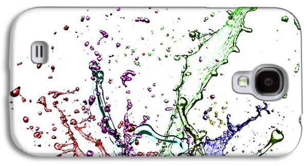 Colourful Splashes Galaxy S4 Case by Wladimir Bulgar