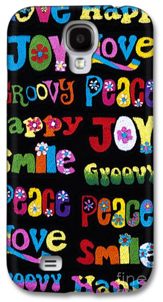 Patch Galaxy S4 Cases - Colourful Words Galaxy S4 Case by Tim Gainey