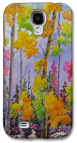 Maple Season Paintings Galaxy S4 Cases - Colours Of Fall Galaxy S4 Case by Mohamed Hirji