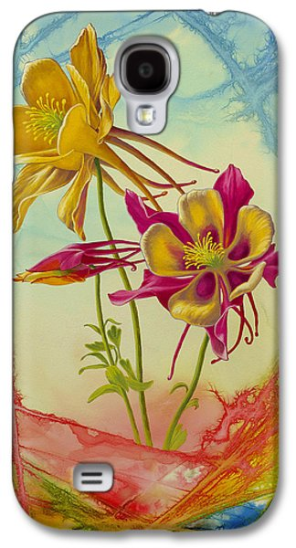 Flower Abstract Galaxy S4 Cases - Columbine in Abstract 02        Galaxy S4 Case by Paul Krapf