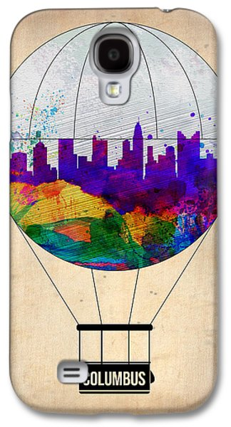 Balloons Galaxy S4 Cases - Columbus Air Balloon Galaxy S4 Case by Naxart Studio