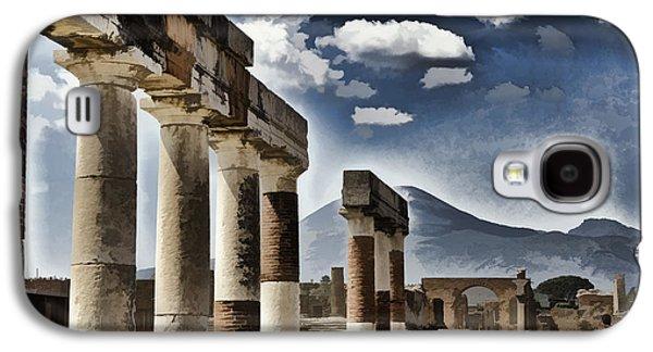 Colum Galaxy S4 Cases - Columns of Pompeii Galaxy S4 Case by Jon Berghoff