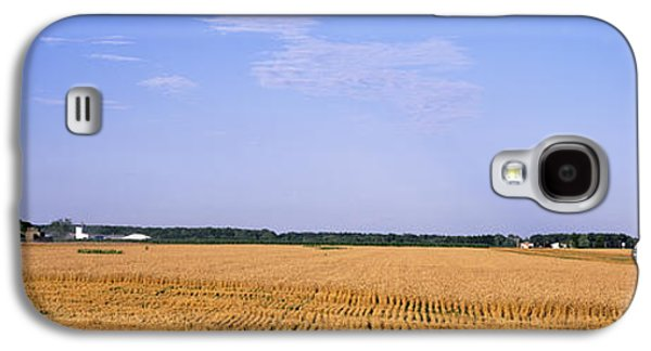 Machinery Galaxy S4 Cases - Combine In A Field, Marion County Galaxy S4 Case by Panoramic Images