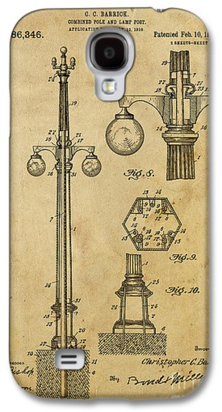 Pole Drawings Galaxy S4 Cases - Combined Pole and Lamp Post - 1914 Galaxy S4 Case by Pablo Franchi