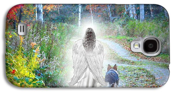 Pet Digital Art Galaxy S4 Cases - Come Walk With Me Galaxy S4 Case by Sue Long