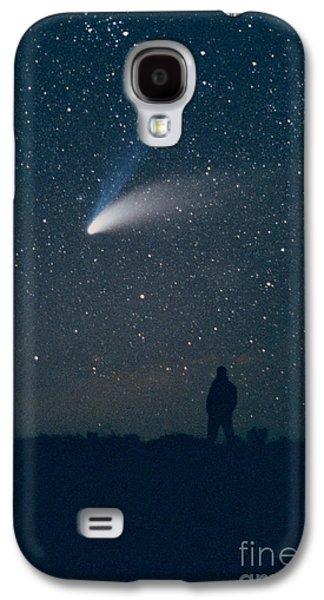 Observer Photographs Galaxy S4 Cases - Comet Hale-bopp Galaxy S4 Case by John Chumack