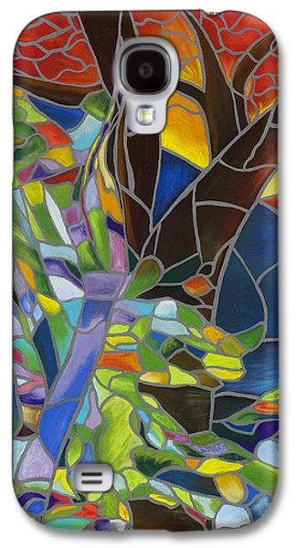 Sunset Abstract Pastels Galaxy S4 Cases - Comforting Galaxy S4 Case by Dana Strotheide