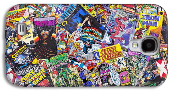 1980s Galaxy S4 Cases - Comic Book Heros Galaxy S4 Case by Tim Gainey