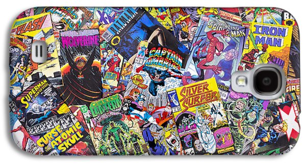 Character Galaxy S4 Cases - Comic Book Heros Galaxy S4 Case by Tim Gainey