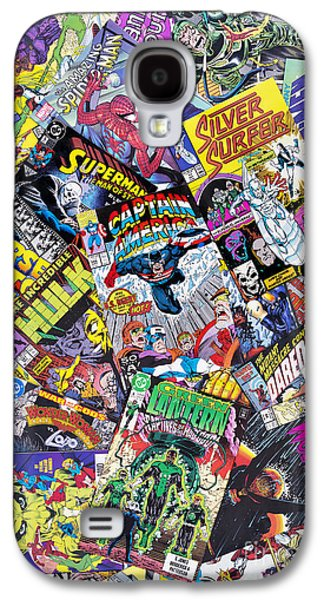 Action Photographs Galaxy S4 Cases - Comic Heros Galaxy S4 Case by Tim Gainey