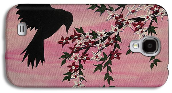 Cherry Blossoms Mixed Media Galaxy S4 Cases - Coming home to roost Galaxy S4 Case by Cathy Jacobs