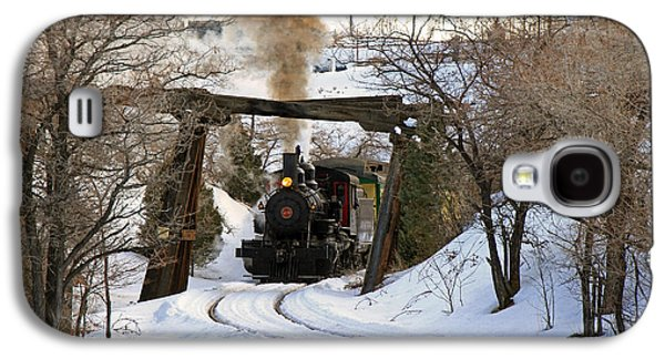 Train Photographs Galaxy S4 Cases - Coming Into the Train Depot Galaxy S4 Case by Donna Kennedy
