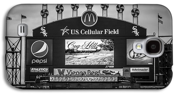 Electronic Galaxy S4 Cases - Comiskey Park U.S. Cellular Field Scoreboard in Chicago Galaxy S4 Case by Paul Velgos