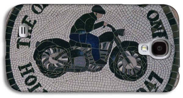 Tile Mosaic Ceramics Galaxy S4 Cases - Commissioned Bike Club Motif Galaxy S4 Case by Pj Flagg Tongue in Chic