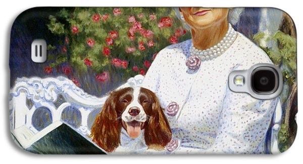 First Lady Paintings Galaxy S4 Cases - Companions in the Garden Galaxy S4 Case by Candace Lovely