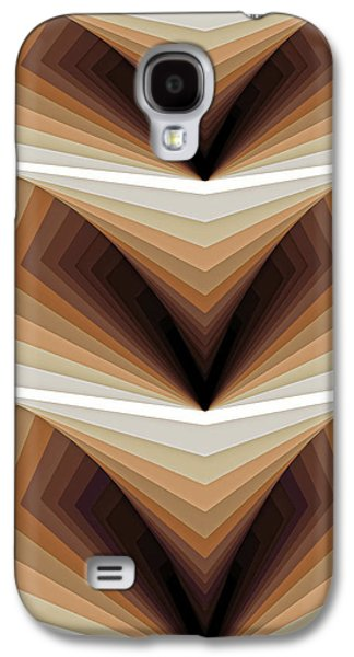 Geometry Paintings Galaxy S4 Cases - Composition 134 Galaxy S4 Case by Terry Reynoldson