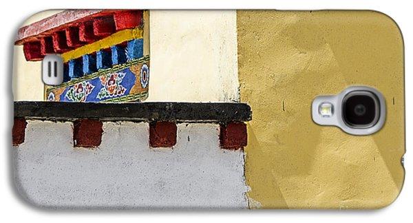 Painted Details Galaxy S4 Cases - Tibetan window overhang Galaxy S4 Case by Hitendra SINKAR