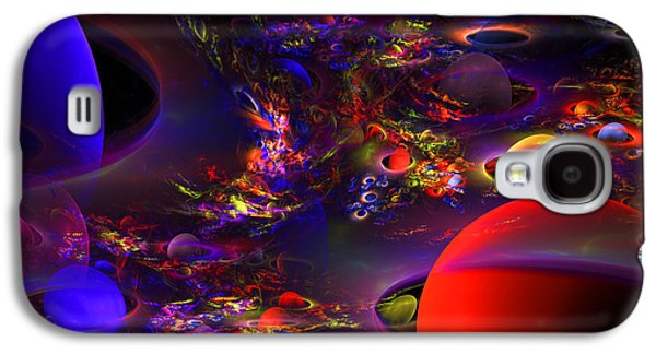 Scientific Galaxy S4 Cases - Computer Generated Abstract Fractal Flame Modern Art Galaxy S4 Case by Keith Webber Jr