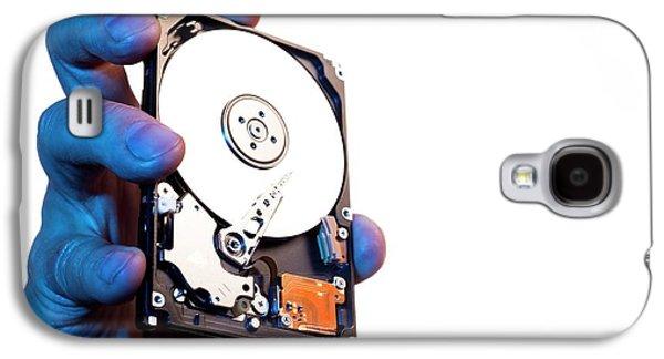 Computer Hard Drive Galaxy S4 Case by Daniel Sambraus, Thomas Luddington