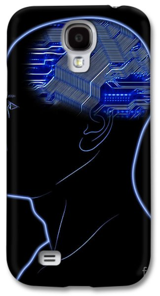 Concentration Digital Galaxy S4 Cases - Computer In Head Galaxy S4 Case by Michal Boubin