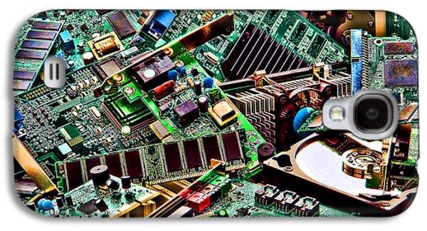 Computer Parts Galaxy S4 Case by Olivier Le Queinec