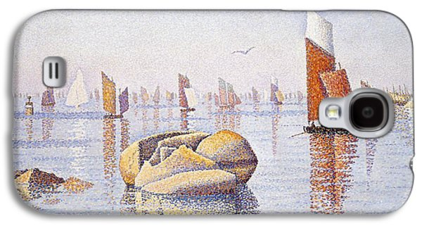 Posters On Paintings Galaxy S4 Cases - Concarneau   Quiet Morning Galaxy S4 Case by Paul Signac