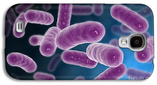 Prokaryote Galaxy S4 Cases - Conceptual Image Of Bacteria Galaxy S4 Case by Stocktrek Images