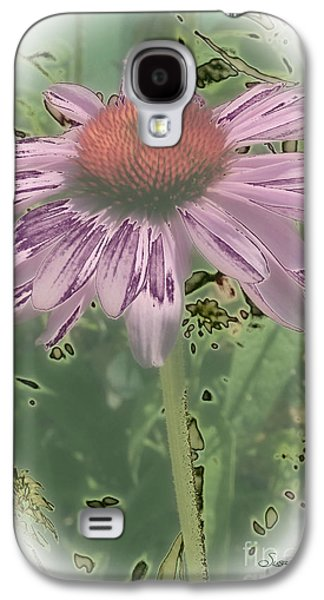Abstracted Coneflowers Digital Galaxy S4 Cases - Coneflower Calling Galaxy S4 Case by Susan  Lipschutz