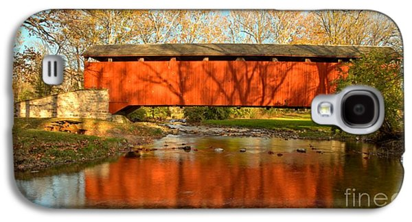 Conestoga Galaxy S4 Cases - Conestoga River Reflections Crop Galaxy S4 Case by Adam Jewell