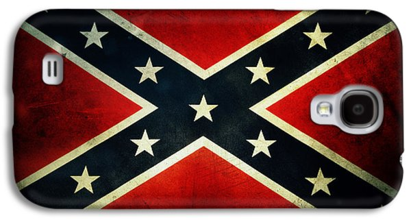 Grunge Galaxy S4 Cases - Confederate flag Galaxy S4 Case by Les Cunliffe
