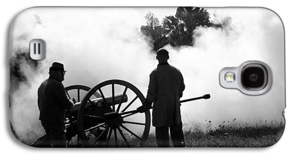 Americans Tapestries - Textiles Galaxy S4 Cases - Confederate Twelve Pounder Fired - Perryville KY Galaxy S4 Case by Thia Stover