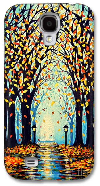 Night Lamp Paintings Galaxy S4 Cases - Confetti Galaxy S4 Case by Janine Riley