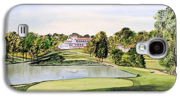 The Tiger Paintings Galaxy S4 Cases - Congressional Golf Course 10Th Hole Galaxy S4 Case by Bill Holkham