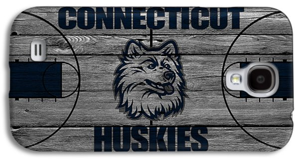 Dunk Galaxy S4 Cases - Connecticut Huskies Galaxy S4 Case by Joe Hamilton