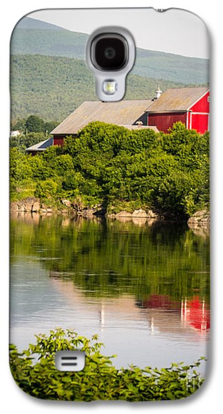 Mountain Valley Galaxy S4 Cases - Connecticut River Farm Galaxy S4 Case by Edward Fielding