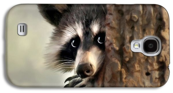 Raccoon Digital Art Galaxy S4 Cases - Conspicuous Bandit Galaxy S4 Case by Christina Rollo