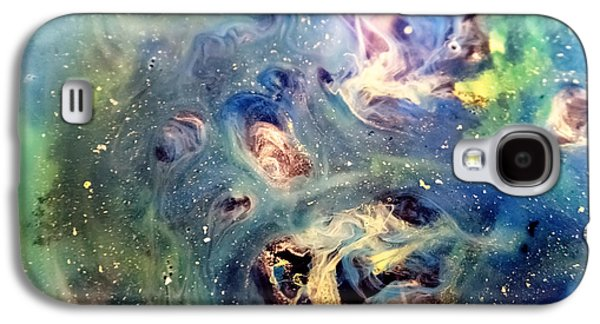 Constellations Paintings Galaxy S4 Cases - Constellation Crab Abstract Watercolor Painting Galaxy S4 Case by Justyna JBJart