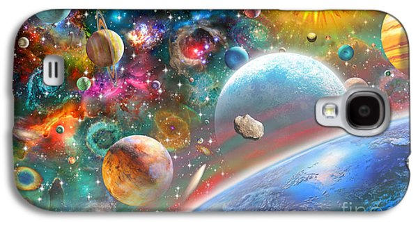 Intergalactic Space Galaxy S4 Cases - Constellations and Planets Galaxy S4 Case by Adrian Chesterman