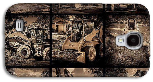 Machinery Galaxy S4 Cases - Construction collage-1 Galaxy S4 Case by Rudy Umans