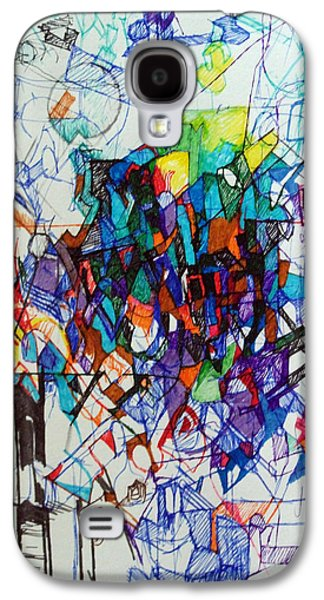 Inner Self Galaxy S4 Cases - Construction of Self 1 Galaxy S4 Case by David Baruch Wolk