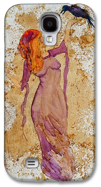 Wicca Paintings Galaxy S4 Cases - Consultation Galaxy S4 Case by Beverley Harper Tinsley