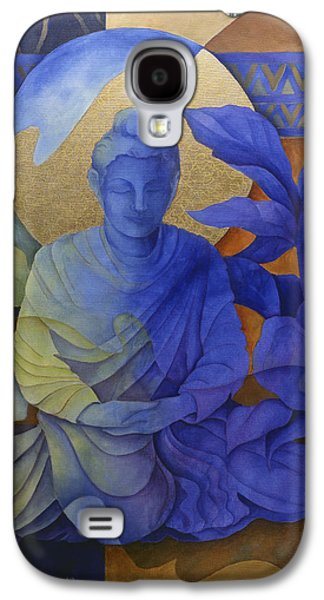 Seated Galaxy S4 Cases - Contemplation - Buddha Meditates Galaxy S4 Case by Susanne Clark
