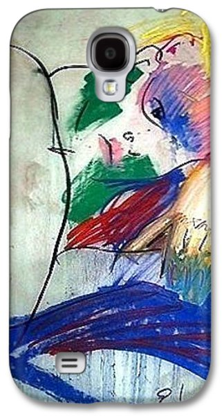 Contemplative Drawings Galaxy S4 Cases - Contemplation Galaxy S4 Case by Elaine Schloss
