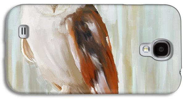 Champagne Paintings Galaxy S4 Cases - Contemplation Galaxy S4 Case by Lourry Legarde