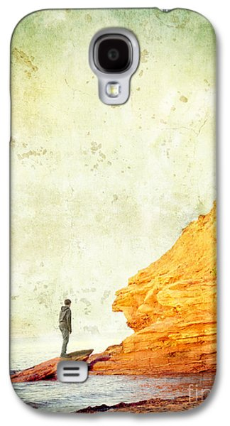 Person Galaxy S4 Cases - Contemplation Point Galaxy S4 Case by Edward Fielding