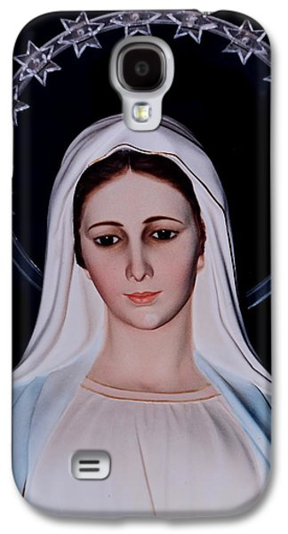 Contemplative Photographs Galaxy S4 Cases - Contemplative Our Lady Queen of Peace  Galaxy S4 Case by Susan Duda