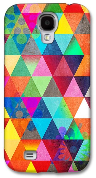 Surreal Geometric Galaxy S4 Cases - Contemporary 3 Galaxy S4 Case by Mark Ashkenazi