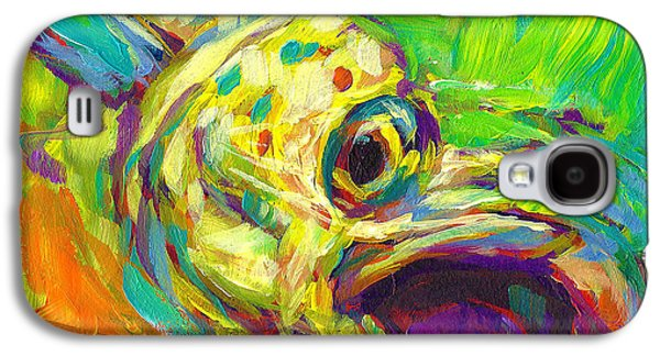 Sportfishing Galaxy S4 Cases - Contemporary Mahi Study Galaxy S4 Case by Mike Savlen