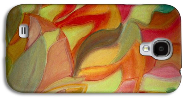 Nature Abstract Pastels Galaxy S4 Cases - Continious Petals Galaxy S4 Case by Coelina Jones